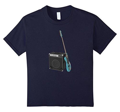 Kids Bass Guitar & Sound Amplifier T-Shirt 10 ()
