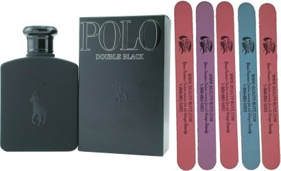 Polo Double Black Eau De Toilette Spray Plus Bonus 5 Emery Boards