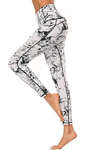 X-Fit Womens High Waist Yoga Pants Compression Workout Leggings(White, XL)