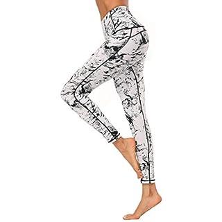 X-Fit Womens High Waist Yoga Pants Compression Workout Leggings(White, L)