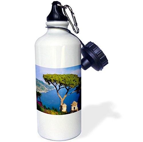 3dRose wb_137525_1 ''Amalfi Coast, Villa Rufolo, Ravello, Campania Italy EU16 BJN0026 Brian Jannsen'' Sports Water Bottle, 21 oz, White by 3dRose