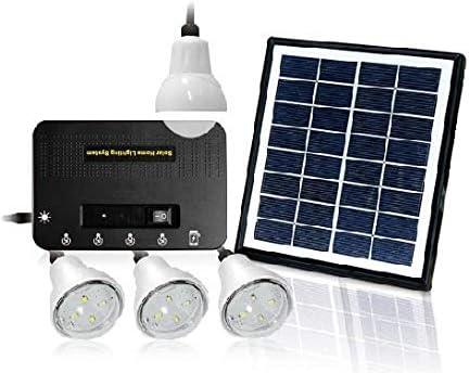 نظام اضاءة يعمل بالطاقة الشمسية 4 لمبات لوح شمسي 8 واط Amazon Ae