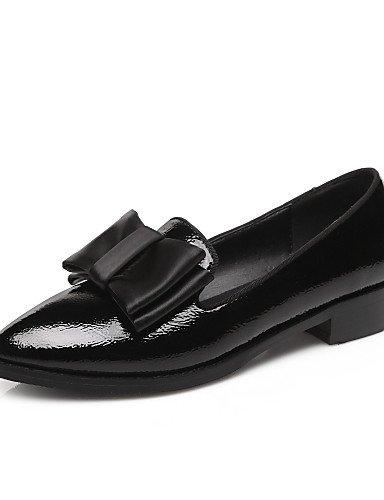 Oficina Zq Black C Y Negro Semicuero Vestido Puntiagudos Trabajo us10 Cn43 Mujer Eu42 Uk8 Zapatos Bajo 5 Tacón 5 Bermellón Casual Mocasines De ZfZ0wqBr