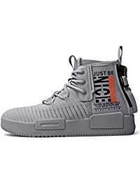 Mens Fashion Walking Lace Up High Top Shoes Stylish Running Athletic Casual Sneaker