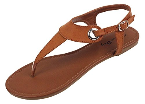 The Bay Sunville Womens Roman Gladiator Sandals Flats Thongs (5, Brown)