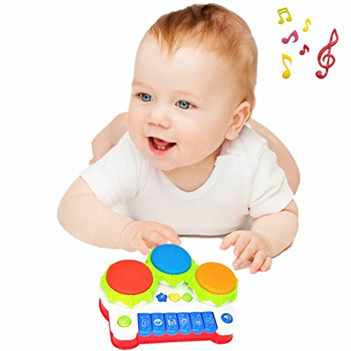 41OXpBZyEQL - TINOTEEN Baby Musical Toys for Toddler, Piano and Drum Musical Instruments Toys