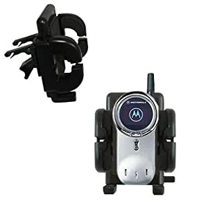 Motorola V70 Vent Vehicle Mount Cradle - Unique Auto Car Holder Clips into Air Vents. Lifetime Warranty