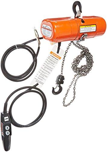 CM Shopstar Electric Chain Hoist, Three Phase, Hook Mount, 250 lbs Capacity, 10' Lift, 16 fpm Max Lift Speed, 0.167 HP, 7/8