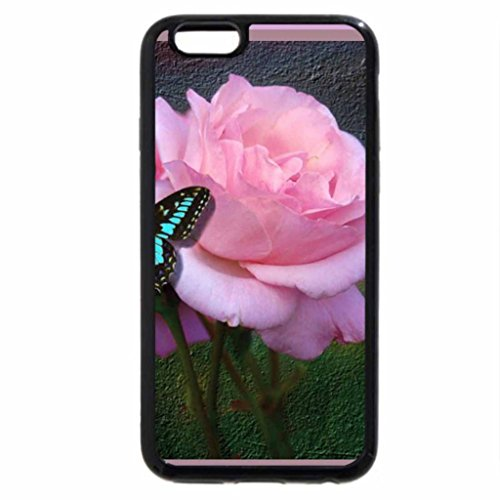 iPhone 6S / iPhone 6 Case (Black) Butterfly Rose