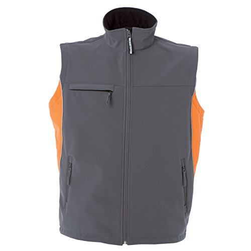 Gilet Edmonton Impermeabile Jrc Da Soft Tecnico Grigio Shell Chemagliette Lavoro Giacca arancio Smanicata qTpBgXFw