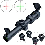 Eagle Eye Rifle Scope 1-6X24 (30mm) R/G Glass Mil Dot Illuminated Reticle Scope