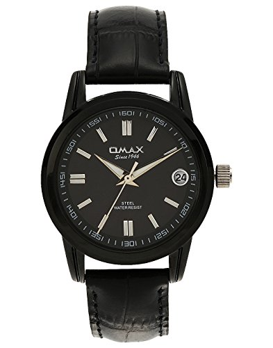 - OMAX Analog Black Dial Formal Office wear Round Date Black Strap Elegant Stylish Latest Watch for Women- Formal Collection