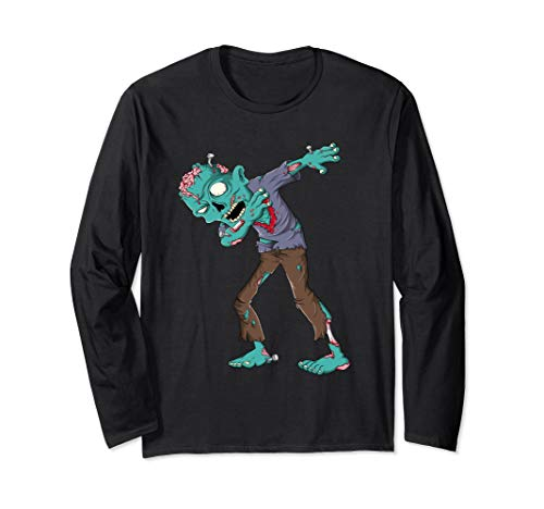 Dabbing Zombie Halloween T shirt Boys Kids Dab Funny Zombies Long Sleeve - Zombies Long Sleeve Funny