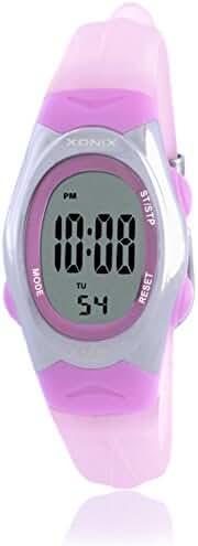 RetroLEDWaterproof digital watches/Girl girl multifunctional electronic watches-D