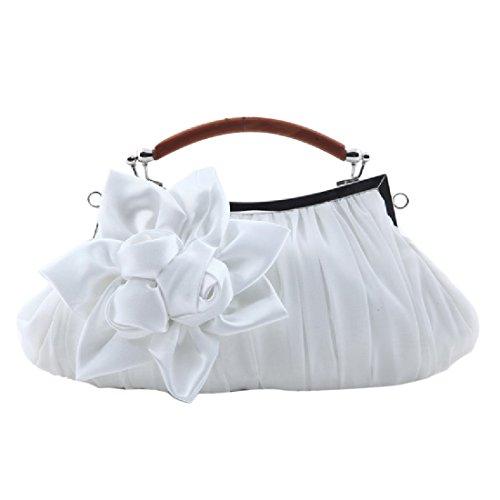 Handbag Womens voberry Handbag New Bag Evening Satin Party White Bride's Cocktail qqHBRw
