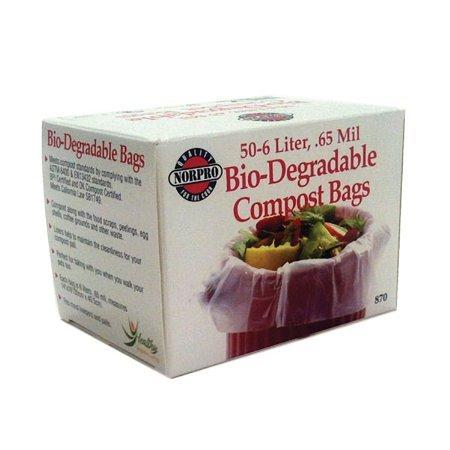 Norpro 50-Piece Bio Degradable Compost Bags (Bio Usa Bag)