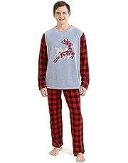 Kerst Bijpassende Familie Pyjama Set Eland Rood Grid Broek Nachtkleding Set voor Vrouwen Mannen Kid Baby Huisdier Xmas Vakantie Nachtkleding Kleding Outfits