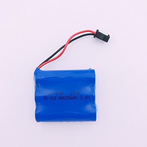 SZJJX 3.6V 600Mah Rechargeable Spare Battery Pack for RC Cars Rock Off-Road...