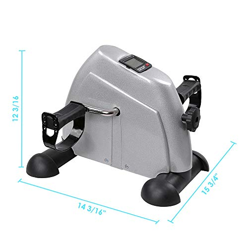 AW LCD Display Pedal Exerciser Mini Cycle Fitness Exercise Bike Indoor Stationary Exercise Cycling by AW (Image #5)