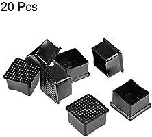 mesa 28mm x 28mm 10 Piezas sourcing map Tapones cuadrados de extremo pl/ástico para pata de muebles silla