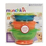 Munchkin, Stay-Put Suction Bowls, Asst. Colors - 3 ea, 2 Pack