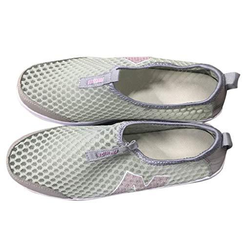Abcone Donna Stivali Zeppe Piedi Pantofole Piattaforma Mesh Air Mocassini Sneakers Traspirante In Casual Grigio A Scarpe Da Elegante qtt5wRr