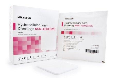Sammon Preston Foam Dressing 4 X 4 Inch Square Non-Adhesive Sterile (10 Per Box) Adhesive Hydrocellular Foam Dressing