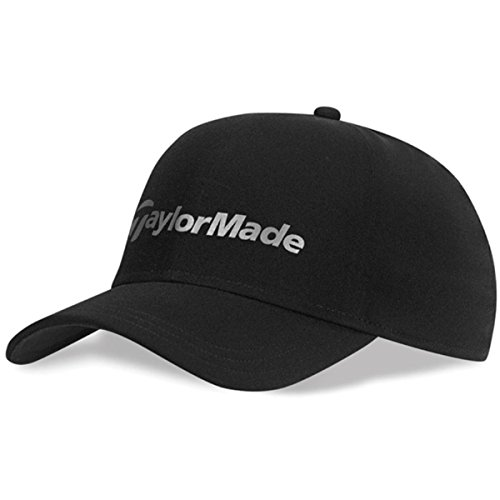 (TaylorMade 2015 Storm Water Resistant Stretch Fit Men's Golf Cap Black Large/XL)