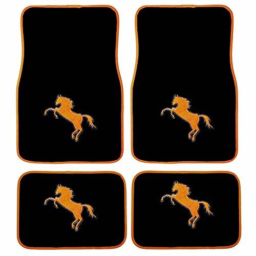 car mats black and orange - 6