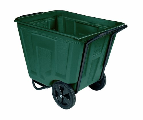 Akro-Mils 76490 30-1/2-Inch W by 47-Inch D by 39-1/2-Inch H 90 Gallon Akro-Cart Medium Duty Plastic Waste Transport Cart, (Akro Mils Poly Bins)