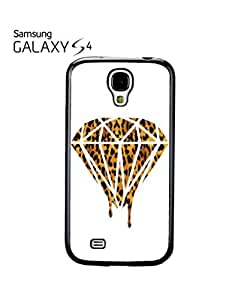 Leopard Dripping Diamond Dope Mobile Cell Phone Case Samsung Galaxy S4 White
