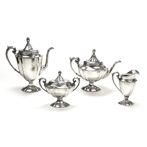 Eternally Yours by 1847 Rogers, Silverplate 4-PC Tea & Coffee Service (Silverplate Set Coffee)