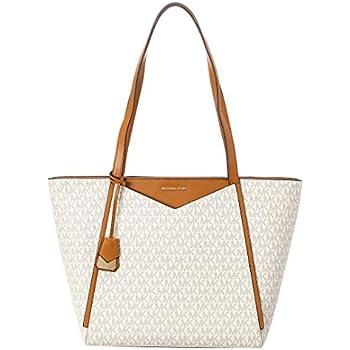 895c7229c435 Amazon.com: MICHAEL Michael Kors Whitney Small Leather Top Zip Tote ...