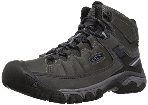 Image of the KEEN Men's Targhee III Mid Leather WP-m Hiking Boot, Steel Grey/Captains Blue, 10 M US