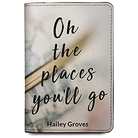 Personalized Leather Passport Holder Cover Customized Travel Gift With Quotes