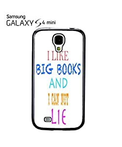 I Like Big Books and I can not Lie Mobile Cell Phone Case Samsung Galaxy S4 Mini White