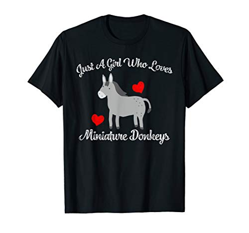Miniature Donkey Tshirt Pet Donkey Lovers Just A girl Loves - T-shirt Donkey Yellow