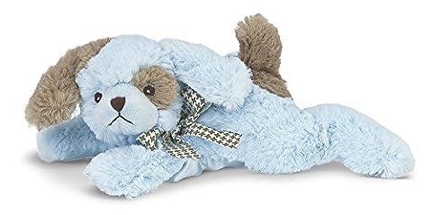 Bearington Baby Waggles Plush Stuffed Animal Puppy Dog Rattle (Blue) 8