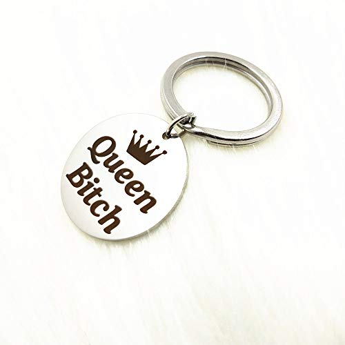 - Christmas Gifts for Girlfriend Wife Queen Bitch Keychain Key Ring Valentines Day Birthday New Year Gift for Lover Couple