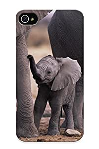 New Style Summerlemond Lile Elephant Premium Tpu Cover Case For Iphone 4/4s