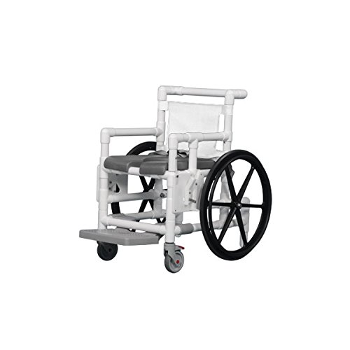 Shower Access Chair W/Dlx Open Front Soft Seat Gray White