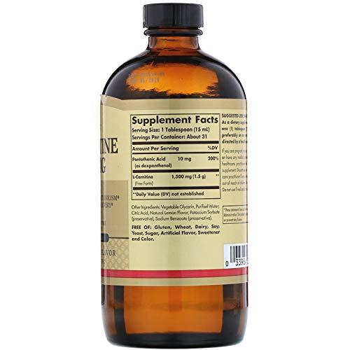 Solgar - L-Carnitine 1500 mg Liquid 16 oz
