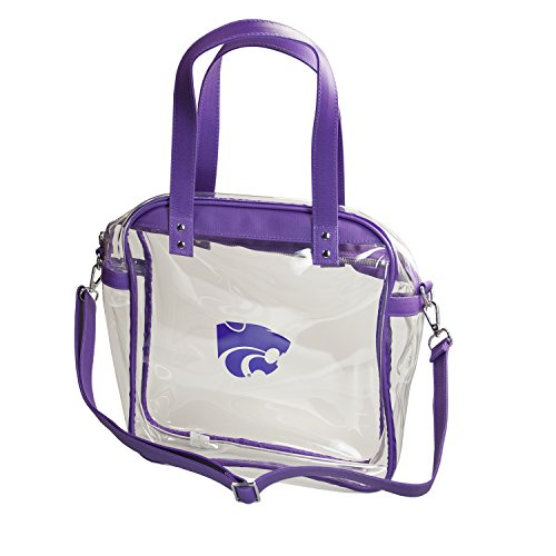 CAPRI DESIGNS CLEARLY FASHION LICENSED STADIUM COLLECTION CARRYALL TOTE---MEETS STADIUM REQUIREMENTS (Kansas State University) by CLEARLY FASHION