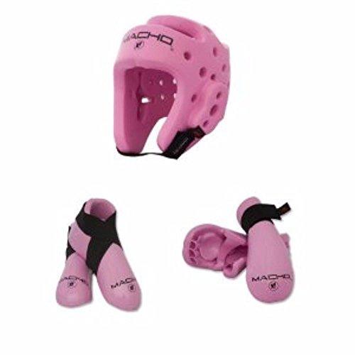 - Macho Dyna 5 piece sparring gear set pink child medium