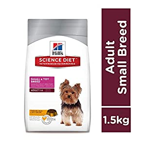 Hill's Science Diet Adult Small & Toy Breed, Chicken Meal & Rice Recipe Dry Dog Food, 1.5 kg