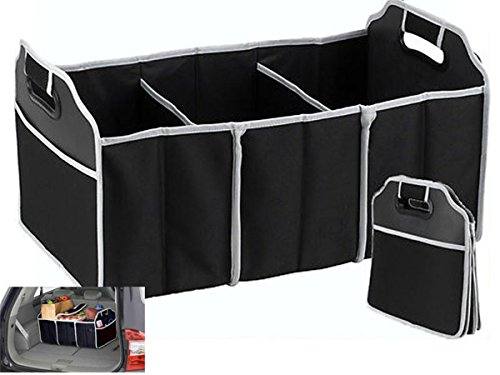 Price comparison product image TRADERPLUS Trunk Cargo Organizer Heavy Duty Folding Caddy Storage Collapse Bag Bin for Auto Car Truck SUV