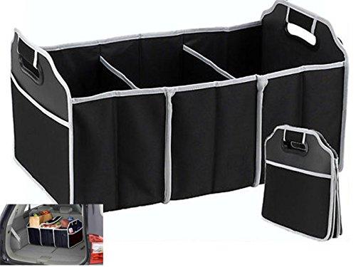 TRADERPLUS Trunk Cargo Organizer Heavy Duty Folding Caddy Storage Collapse Bag Bin for Auto Car Truck SUV