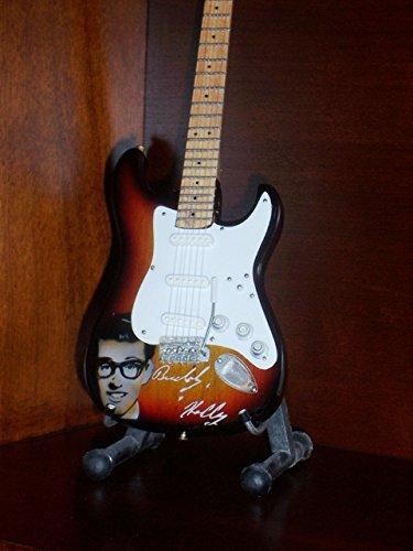 BUDDY HOLLY Portrait Mini Guitar Display GIFT ()