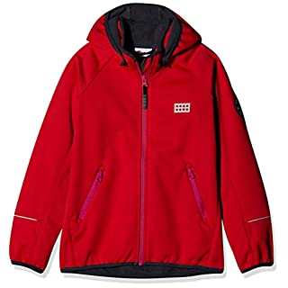 LEGO Wear Unisex Jacket With Windproof Finish and Detachable Hood, Red, 3 Yr
