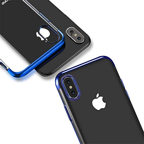 Etui Iphone Rouge Fine Tpu Coque De Pare Apple Téléphone Transparente Housse Galvanoplastie Avec Protection Ultra Souple X Bord Étui Hishiny chocs Silicone 6B15xq